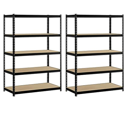 Exceptionnel Heavy Duty Garage Shelf Steel Metal Storage 5 Level Adjustable Shelves Unit  72u0026quot; H X