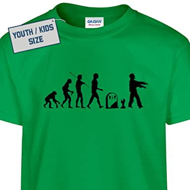Amazon.com: Youth Zombie T Shirt Funny Kids Zombie Walking Dead T ...