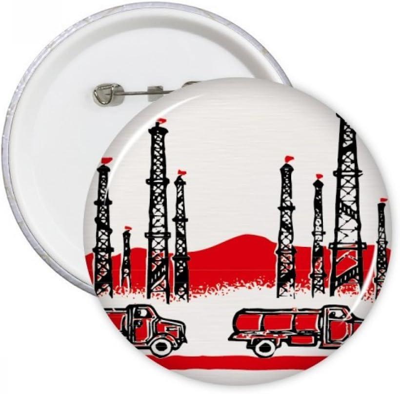 Coche Montaña Torre chino revolución clavijas redondas insignia botón ropa 5piezas regalo