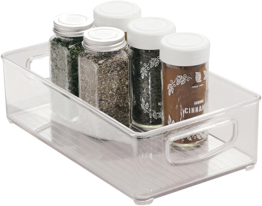 snacks e altri alimenti trasparente mDesign Organizer cucina con cassetto interno estraibile Contenitore plastica per dispensa Portaoggetti cucina utile per conservare pasta Set da 2