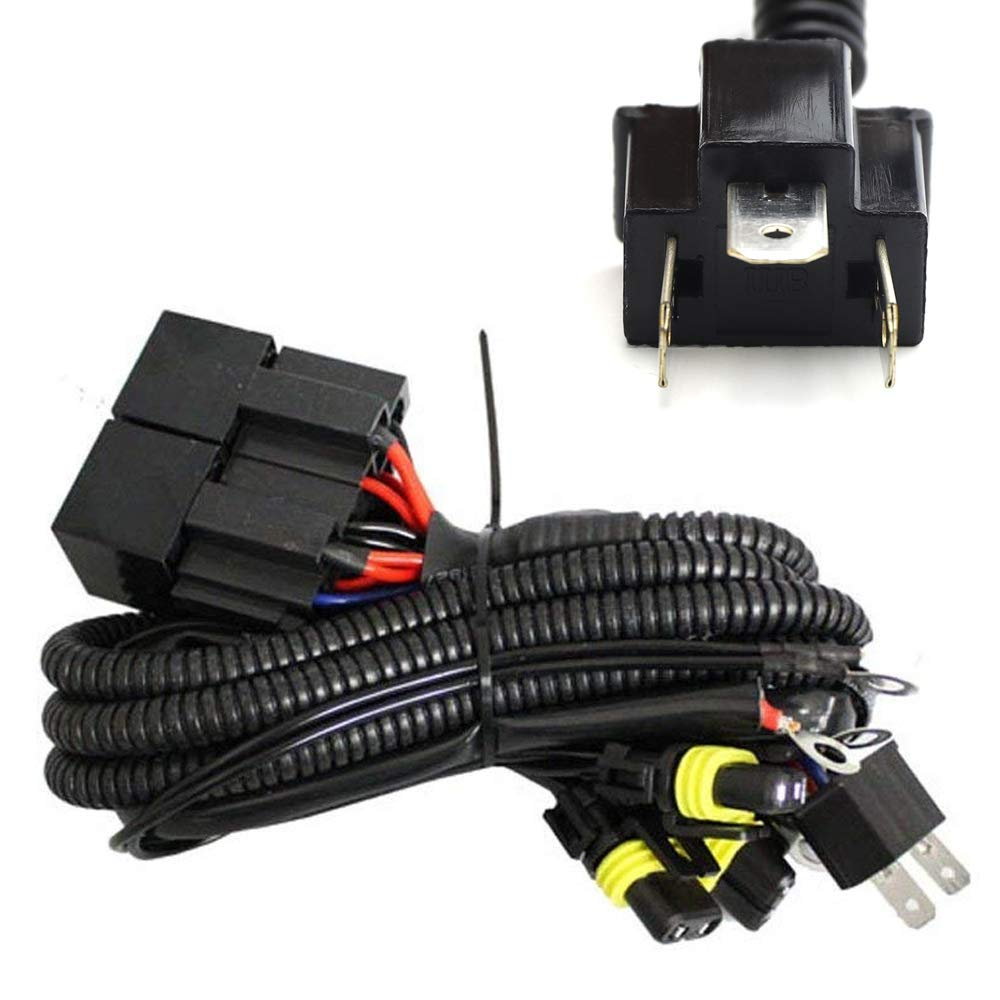 Ijdmtoy Headlight High Low Conversion Relay Wire Harness 12v Wiring Diagram Retrofit Hi Lo For Original H4 Headlamps To Separated 9005 9006 Beam Headlights