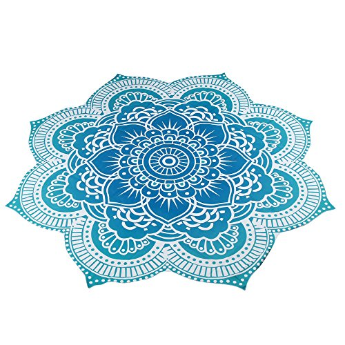 Forthery Indian Mandala Shower Towel Blanket Round Beach Throw Tapestry Hippy Gypsy Yoga (Heart Shell Anklet)