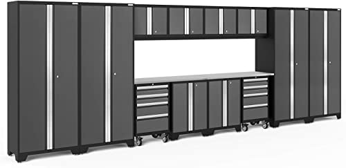 NewAge Products Bold Series Gray 14 Piece Set, Garage Cabinets, 56136