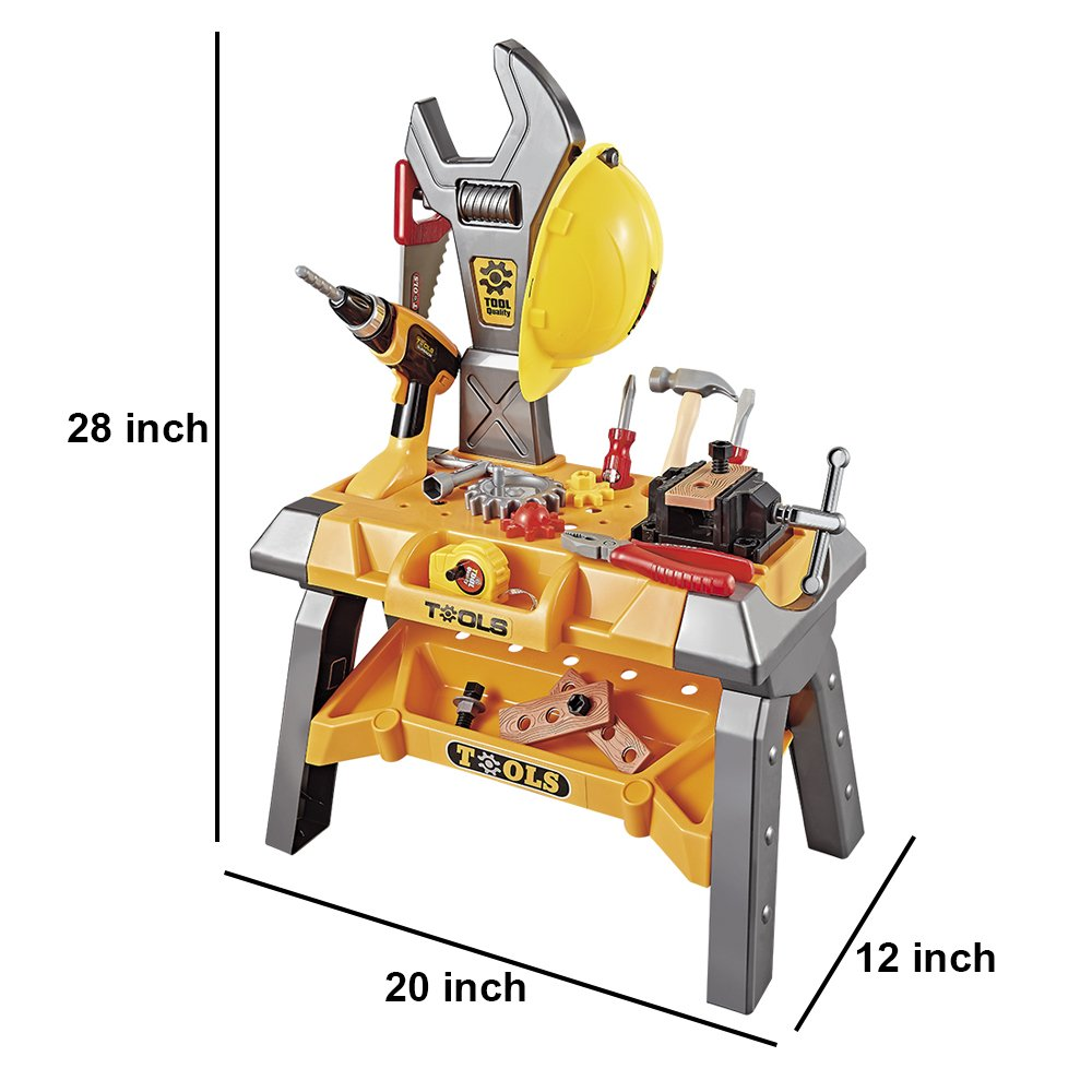 145ec5a293efd Young Choi s 120 Pieces Kids Construction Toy Power Workbench ...