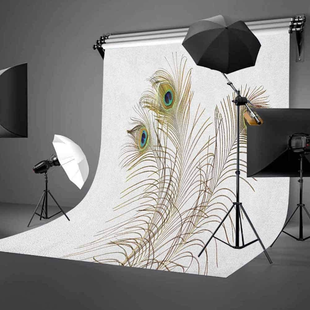 7x10 FT Abstract Vinyl Photography Background Backdrops,Vertical Wavy Lines Oval Double S Shapes Curves Ogee Pattern Background Newborn Baby Portrait Photo Studio Photobooth Props