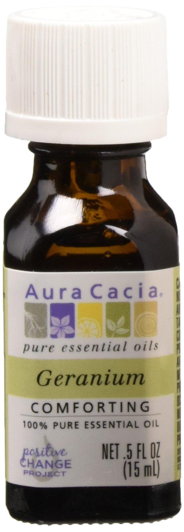 Aura Cacia - Essential Oil, Geranium, 0.5 oz