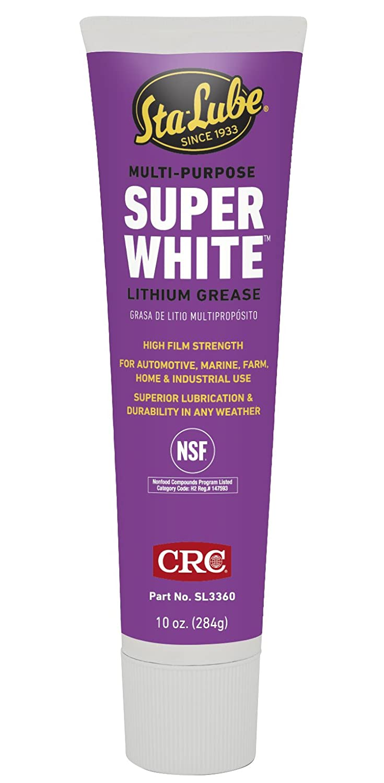 CRC SL3660 Super White Multi-Purpose Lithium Grease, 10 Wt Oz CRC Industries SL3360