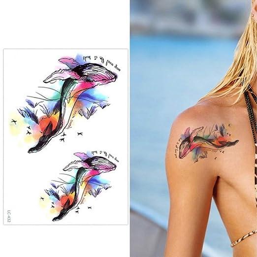 Modeganqing 10 Tatuaje de Brazo de Flor Grande Etiqueta engomada ...
