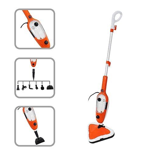 Todeco - Trapeador a Vapor, Limpiador de Pisos a Vapor - Potencia: 1300 W - Material: Aleación de aluminio - Naranja, 10 en 1: Amazon.es: Hogar