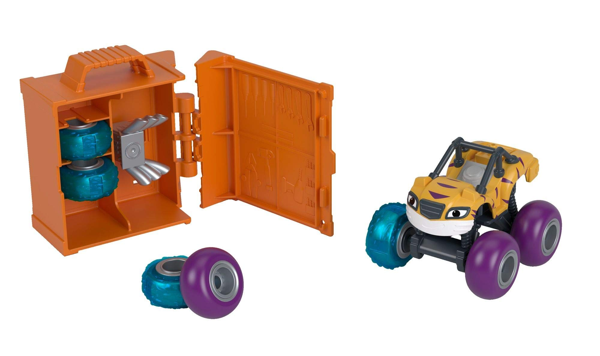 Fisher-Price Nickelodeon Blaze & the Monster Machines Tune-Up Tires, Stripes by Fisher-Price (Image #4)