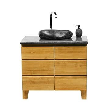 Waschtisch Mit Steinplatte wohnfreuden teak holz waschbecken unterschrank waschtisch hellbraun