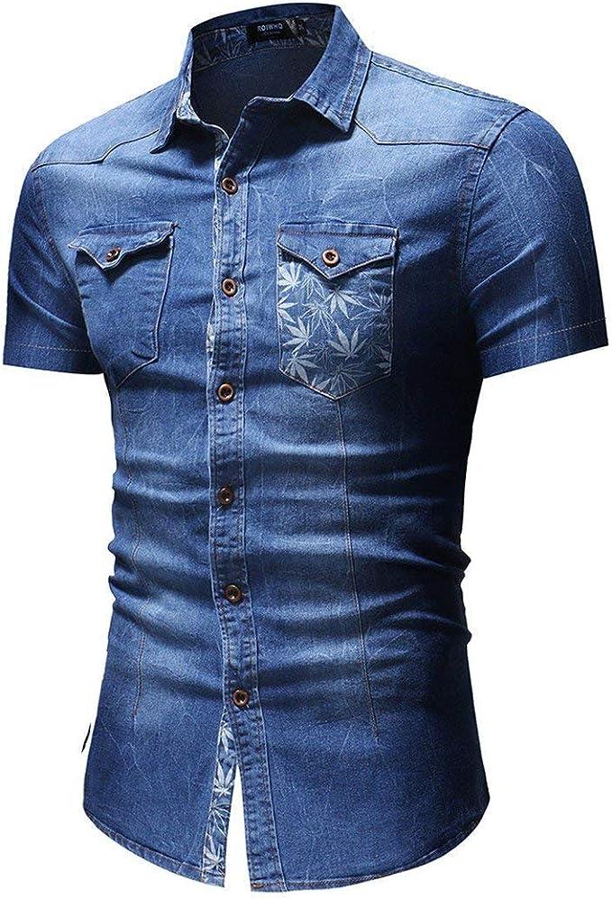 Camiseta De Hombre/Camisa Polo De De/Camisa Mezclilla De Joven Manga Corta Impresa para Hombre De Verano Y Personaje Americano: Amazon.es: Ropa y accesorios