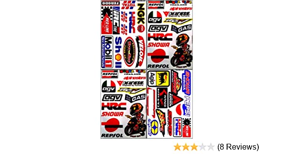 Amazon.com: Repsol HRC Honda Motorcycles Dirt Bike ATV Helmet Racing Decal Sticker Sheet #HRC-401: Automotive