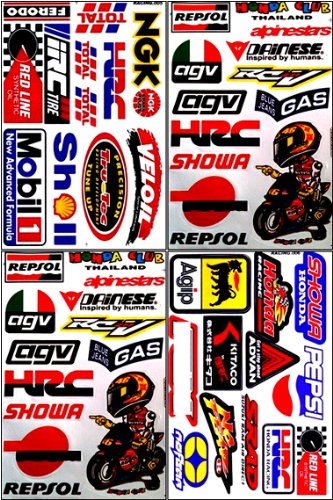 Repsol HRC Honda Motorcycles Dirt Bike ATV Helmet Racing Decal Sticker Sheet #HRC-401