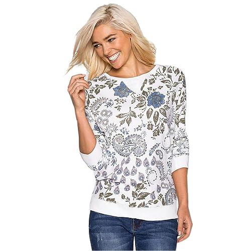 Amlaiworld Algodón manga larga blusa ocasional de tapas de la camisa