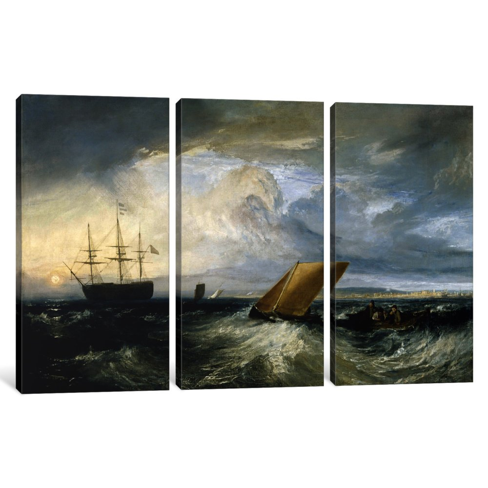 iCanvasART 3-Piece Sheerness as Seen from The Nore Canvas Print by J.M.W Turner 1.5 by 60 by 40-Inch