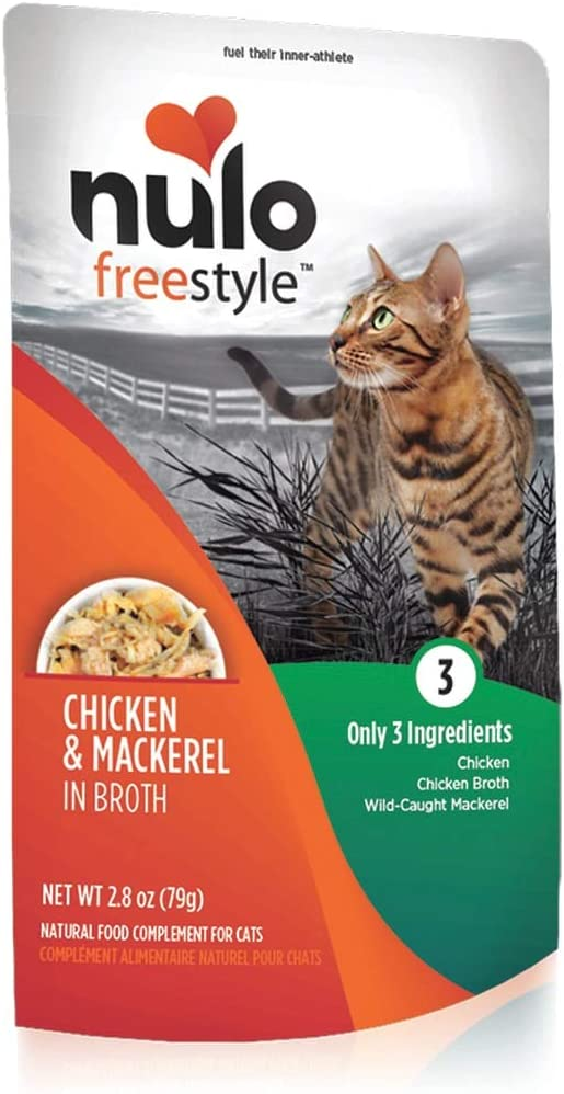 Nulo, Freestyle Chicken & Mackerel in Broth Cat Food Pouch, 2.8 oz