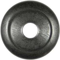 Donut Pi Chinois en obsidienne neige pour pendentif