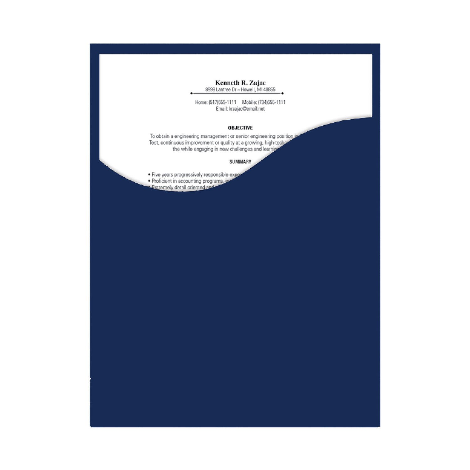 amazoncom southworth executive single pocket presentation folders 9 x 12 inches 8 count navy textured 98874 office products