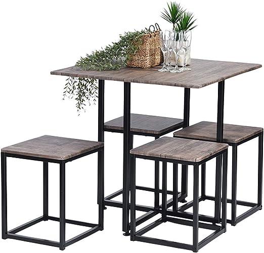 Juego de mesa de comedor ASUUNY, mesa de comedor y 4 sillas, juego ...