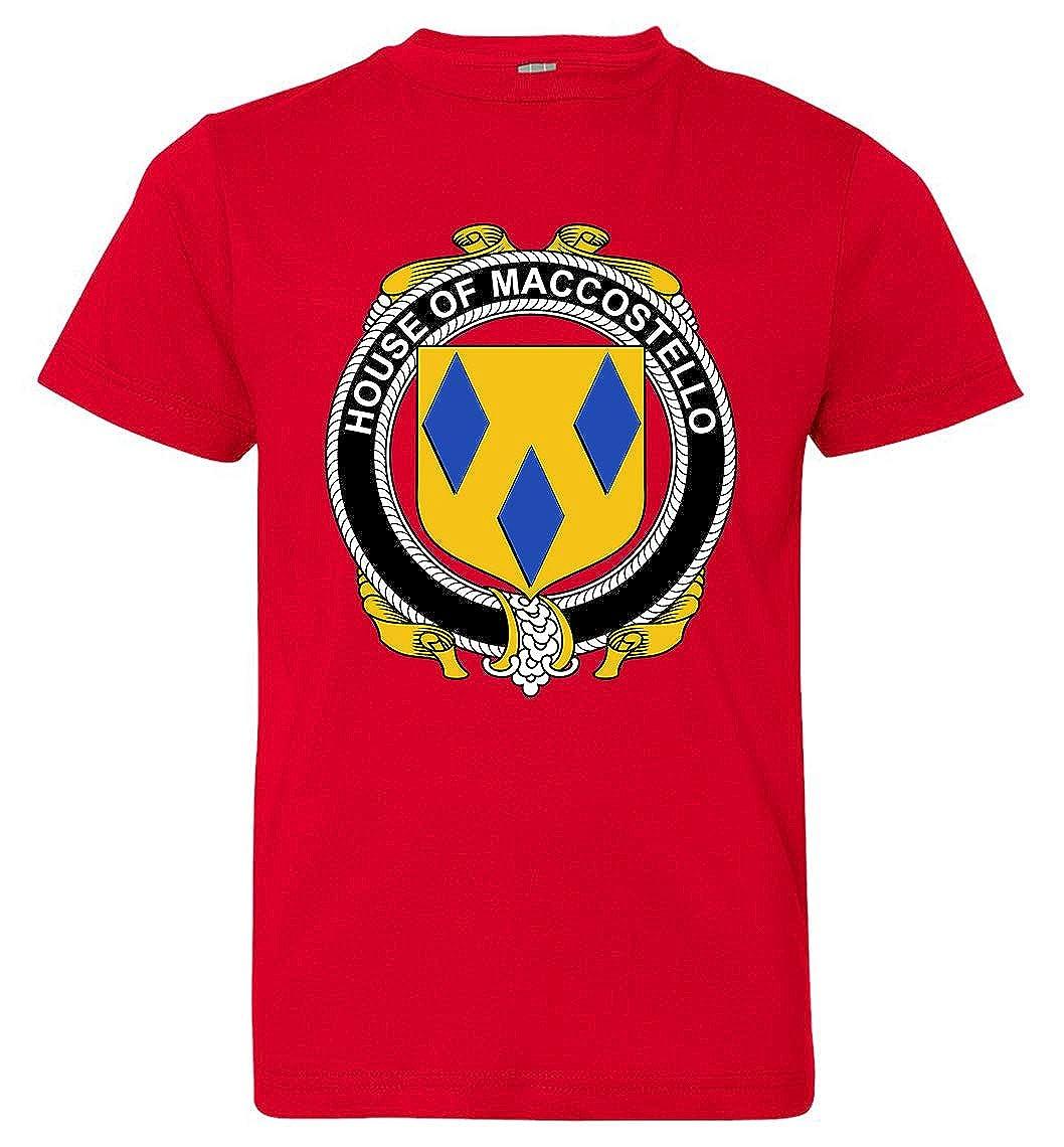 Tenacitee Boys Youth Irish House Heraldry Maccostello T-Shirt Medium Red