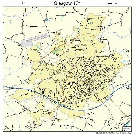 Amazon.com: Image Trader Large Street & Road Map of Glasgow ...