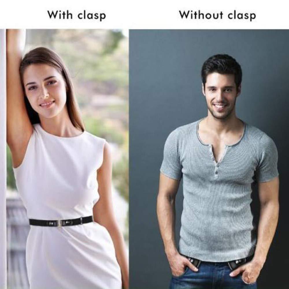 Buckle-Free Elastic Belt Women Men Comfortable Invisible Waist Belt No Bulge No Hassle Slim Fitting for Jeans Short Pants Skirt Dresses (Multicolor) by Codiak-Costume (Image #10)