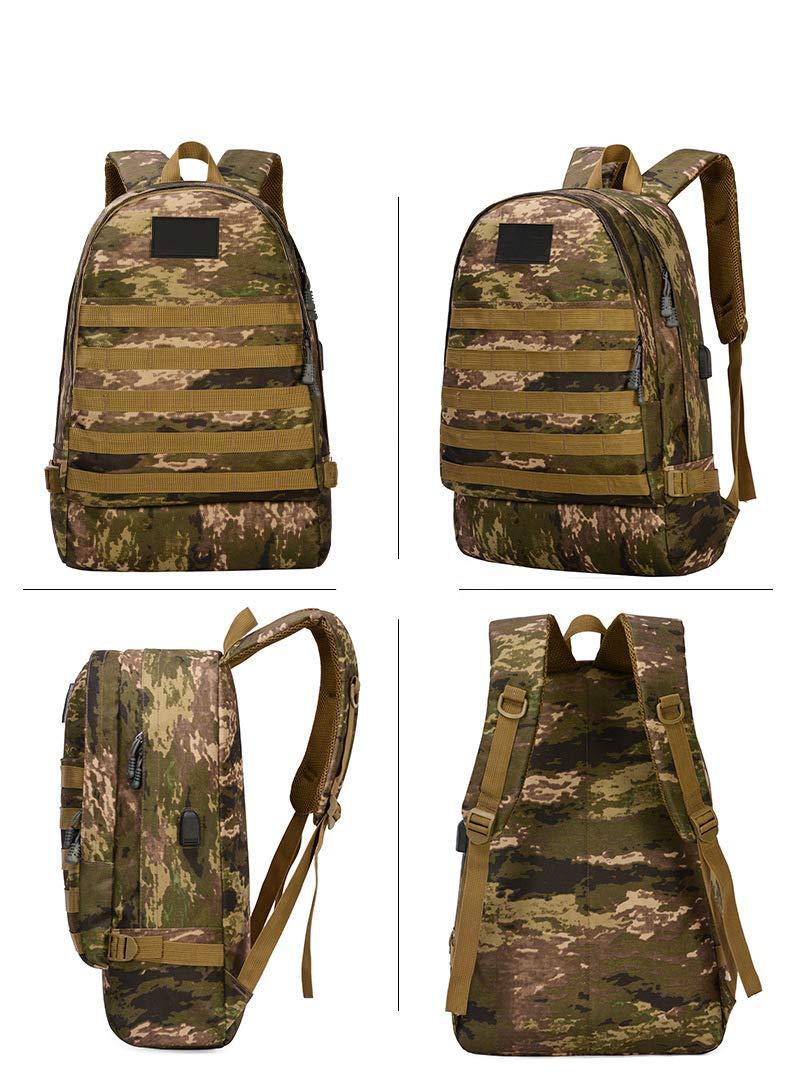 e5a3704749 CmNo1 zaino per ragazzi, stampa mimetica di scuola Bookbag zaino sport con  porta USB di ricarica per campeggio/escursione/uomini/ragazzi/ragazze, ...