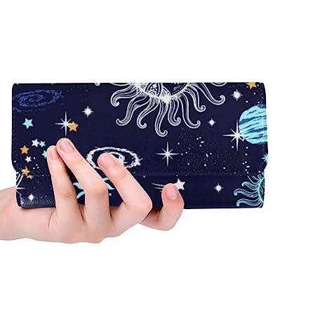 397de8ff2d9a Silly Meow Galaxy Sun And Moon Custom Women's Wallet Women's Trifold Long  Clutch Wallets Great Gift
