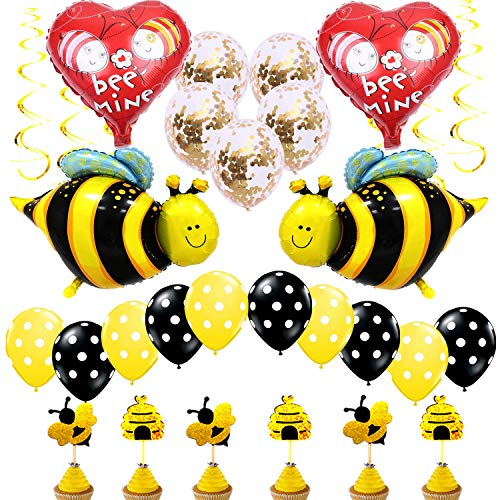 Bumblebee Party Decoration Baby Shower Bumble Bee Balloons for Honey Bee Themed Birthday Party Supplies (Party Shower Baby)