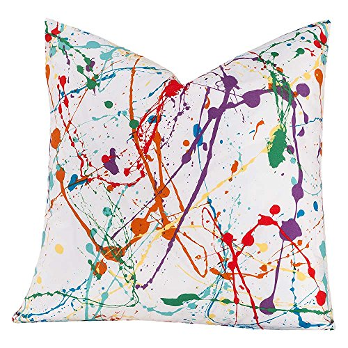 Crayola Splat Multicolored Polyester Decorative Throw Pillow Large 20 x 20