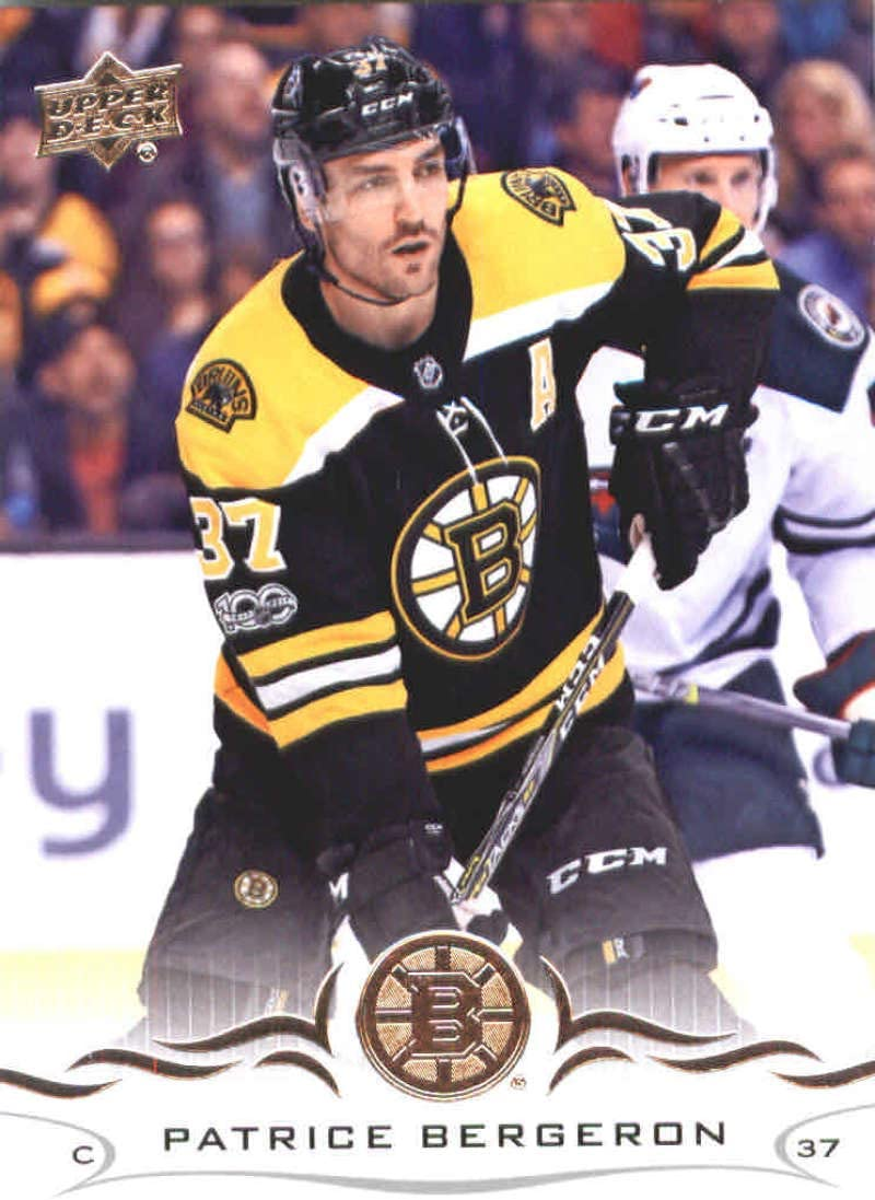 2017-18 Upper Deck compendio Azul #22 Patrice Bergeron Boston Bruins tarjeta