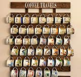 Collectible You Are Here and Been There Coffee Mug Rack 48 or 56 mug hooks XL You are here mug collection display