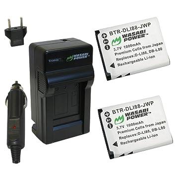 Wasabi Power Kit de Batería y Cargador para Pentax D-LI88 ...