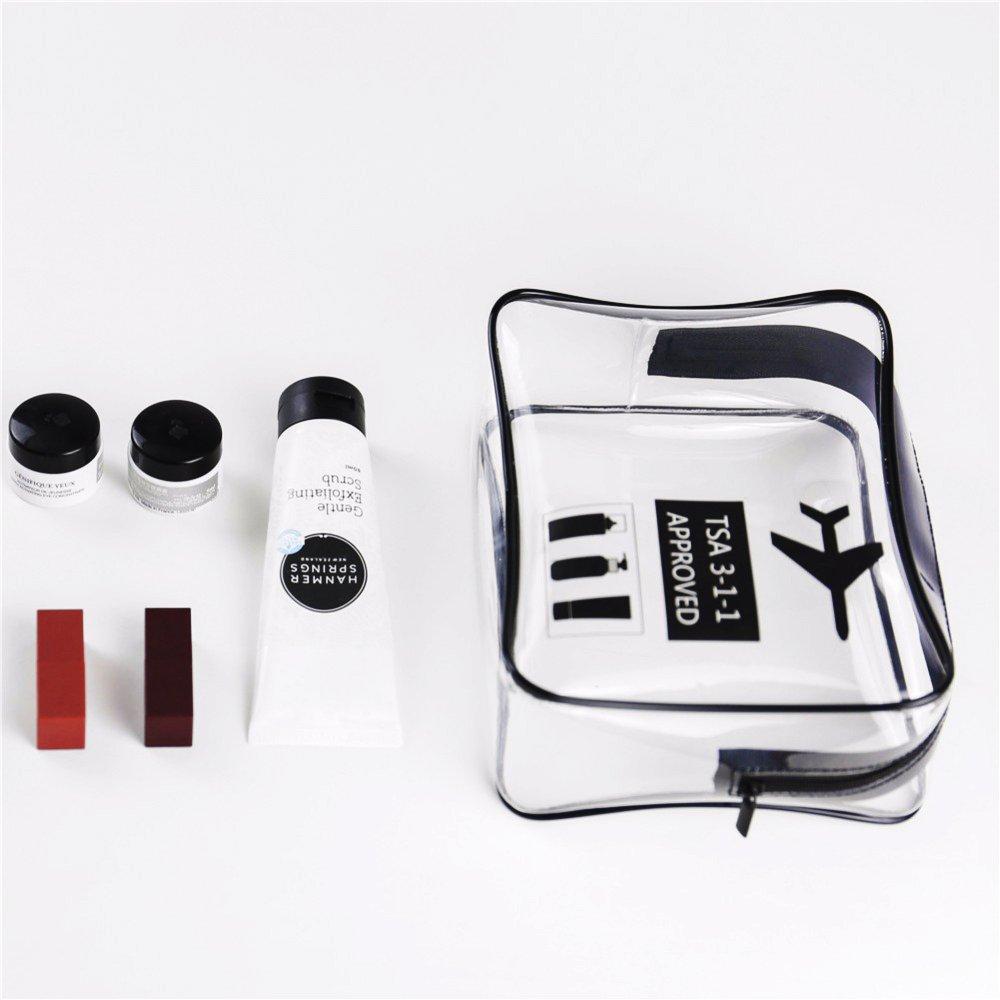 ZhongYeYuanDianZiKeJi Bolsa Maquillaje Transparente Organizador Bolsa de Viaje Cosm/ética Impermeable Art/ículos de Tocador