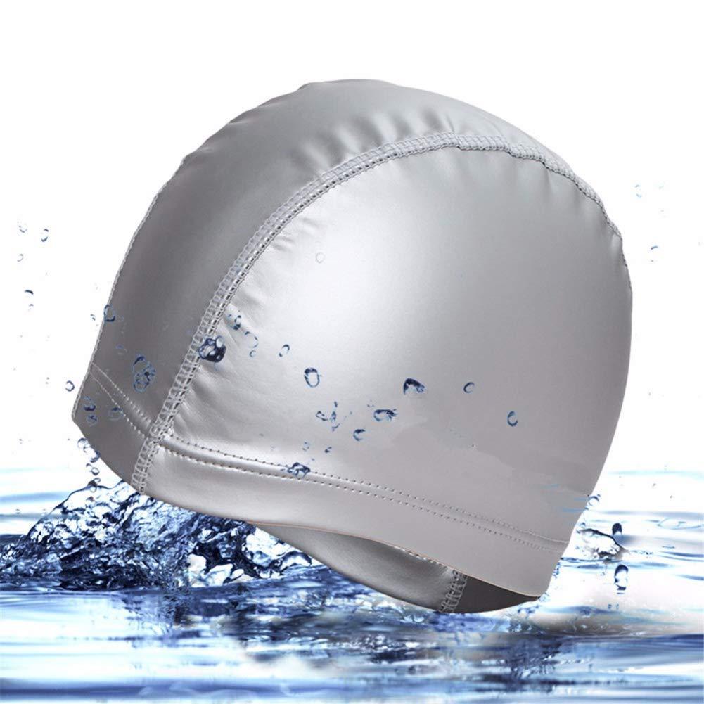 1pc Swimming Cap No-Slip Swimming Cap Swimming Cap Ear Wrap Waterproof Hat for Adult Women Men(Pink) by Asien (Image #1)