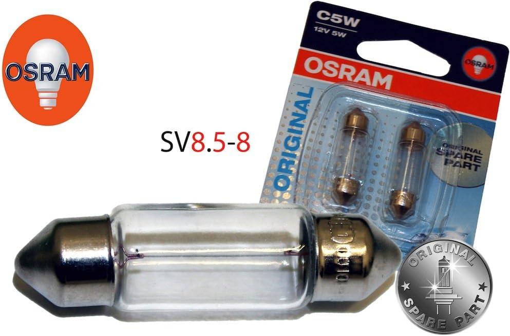 Osram C5w 8 438799 Kennzeichenbeleuchtung Set 36mm C5w 12v 5w Auto