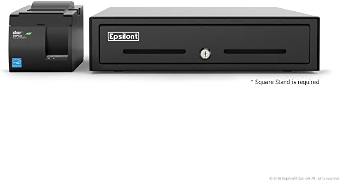 Star Micronics TSP143IIU USB Printer and Epsilon Drawer SQUARE REGISTER MINI