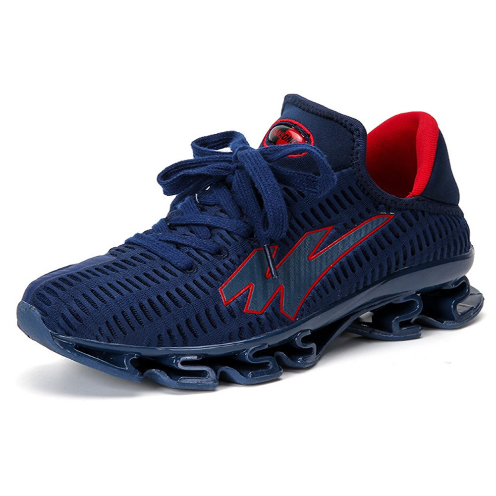 DXdesign Men Stylish Sports Sneakers Breathable Almighty Shock Absorption Outdoor Running Hiking Shoes B074MTNNKC 9.5 D(M) US Blue-red