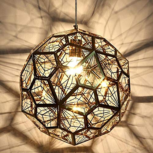 Geometric Pendant Light, Living Room Decoration Cafe Hanging Lamp Bar Counter Tea Room Metal Pendant Light Ceiling Lamp Fixture,Gold ()