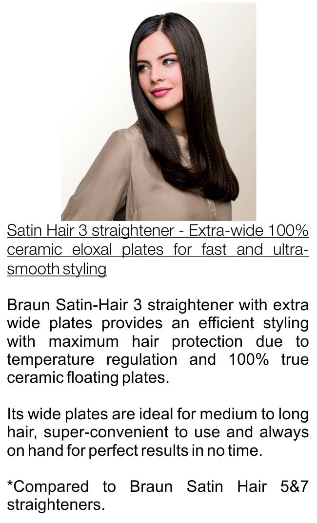 Amazon.com: Braun ST310 1.5 Inch Satin Hair 3 Ceramic Straightener, 220 Volts (Not for USA): Health & Personal Care