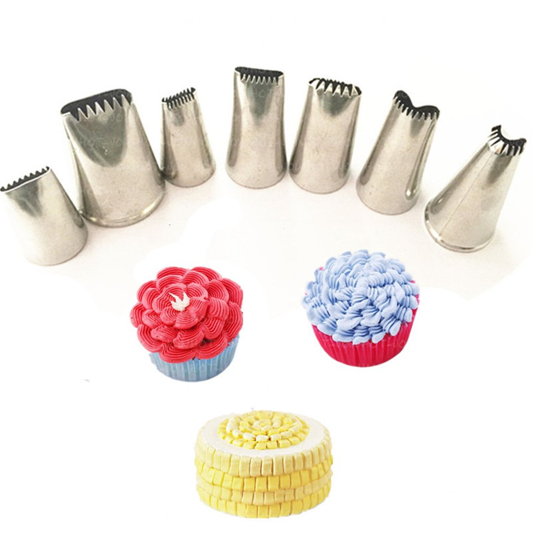 FantasyDay 3 Pieces Stainless Steel Piping Nozzles Cake Decorating Tips Set - Perfect Decorating Tools for Cupcakes Cakes Cookies