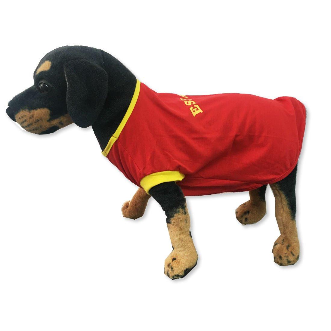 Happyzoomascotas Camiseta Perro Fútol España Talla S: Amazon.es: Productos para mascotas