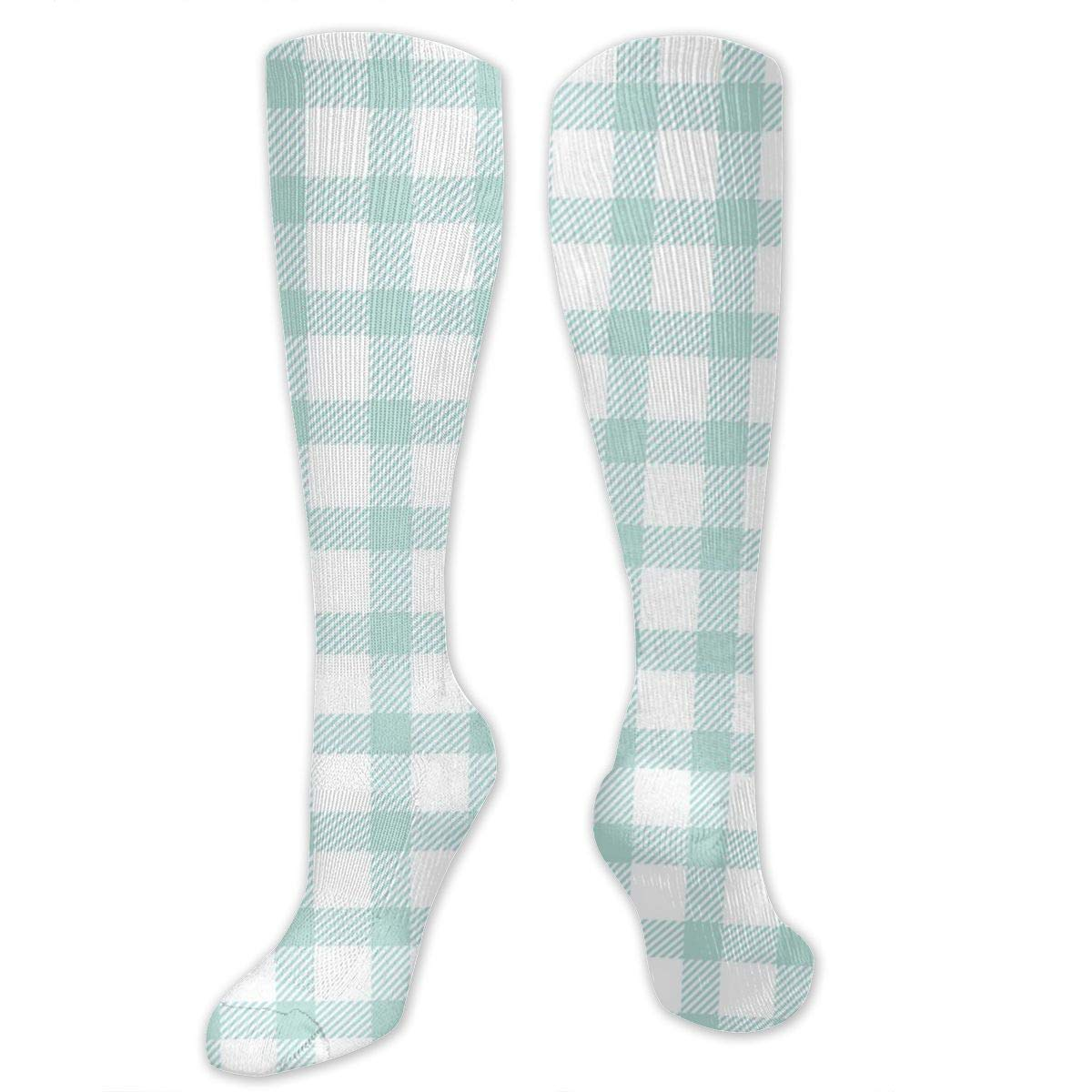 Starballest White-Green Checks Socks for Women Tube Socks Thermal Socks