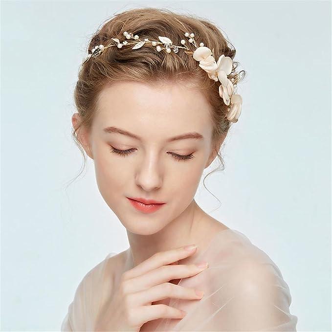 BESTOYARD Blumenkranz Stirnband Braut Haar Girlande Blumen Kopfschmuck Haarschmuck f/ür Hochzeitsstrand
