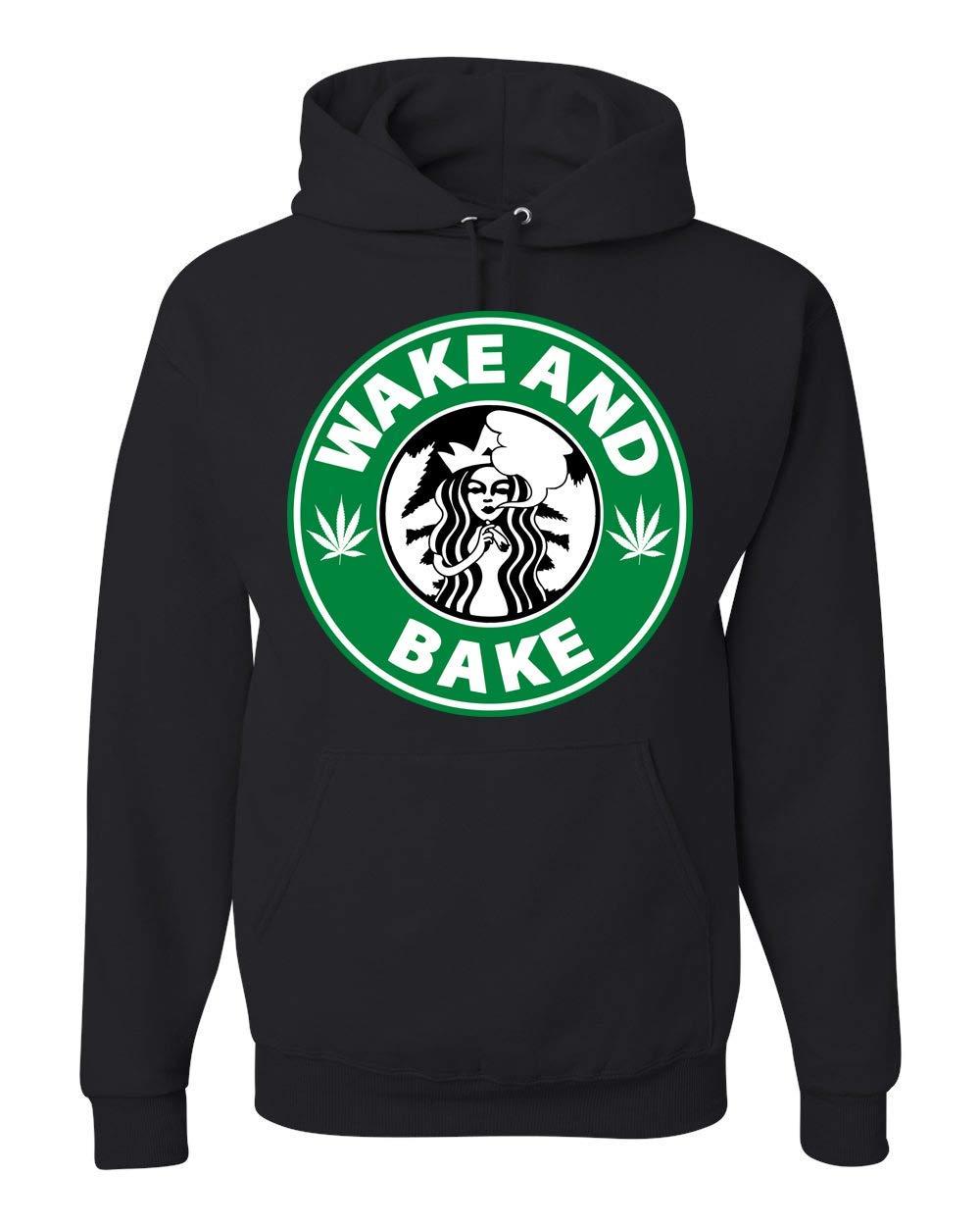Memetic Adult Wake And Bake Hooded Shirts