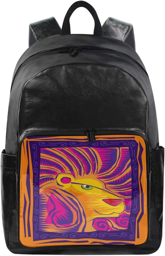 Leo 12.5x9x17.5 Holds 12.5-inch Laptop Student Backpacks College School Book Bag Travel Hiking Camping Daypack for boy for Girl