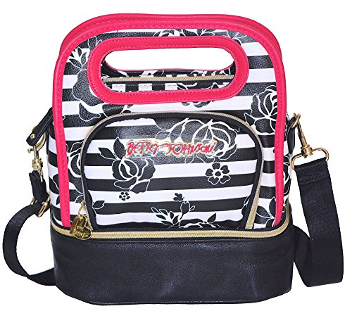 Betsey Johnson Be Mine Top Handle Lunch Tote Bag, Black