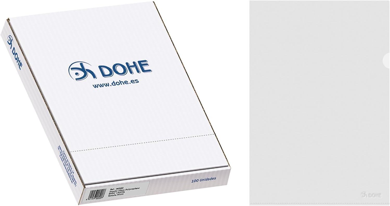Dohe 90590 - Caja Dossier uñero Folio Cristal (100 Uds.)