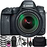 Canon EOS 6D Mark II with EF 24-105mm f/3.5-5.6 IS STM Lens - 11PC Accessory Bundle Includes 3 Piece Filter Kit (UV, CPL, FLD) + 4 Piece Macro Filter Set (+1, +2, +4, +10) + Lens Cap Keeper + MORE
